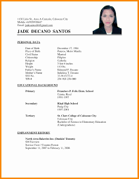 Sample Resume For Ojt Architecture Student Sample Resume Format For Ojt Information Technology Students 51