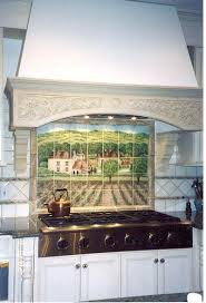 Kitchen Mural Shows More Of The French Vineyard Backsplash Mural And Kitchen