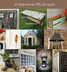 43 Repurposed Projects For Home Decor   Rustic Crafts \u0026 Chic Decor