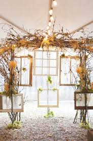 tree branches themed wedding reception dcor ideas