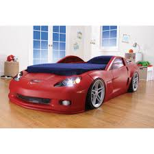Costway New Kids Race Car Bed Toddler Bed Boys Child Furniture Red Wooden -  Walmart.com