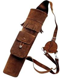 4archery traditional leather back arrow quiver aq118
