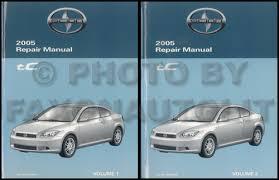 scion tc wiring diagram manual original 2005 scion tc repair shop manual original 199 00
