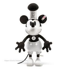 シュタイフ ミッキーマウス90周年記念 ディズニー 蒸気船ウィリー ミッキーマウス35cm
