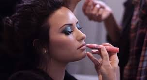 go behind the scenes of demi lovato s cool new makeup photo shoot twist