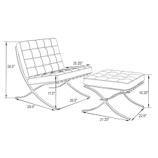 Barcelona Chair Dimensions Bg Home Design | Michaelmcknight