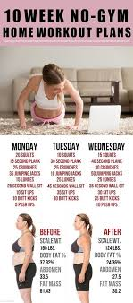 10 week home workout plans