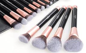 through november 10th head over to amazon where you can score this anjou 16 piece makeup brush set for only 12 99 when you use promo code