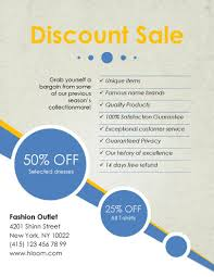 marketing flyer templates in word for any business discount