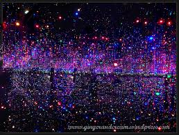 brilliance lighting. infinity mirrored room filled with the brilliance of life 2011 by yayoi kusama lighting