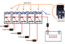 terminal rocker switch wiring diagram image 12v lighted toggle switch wiring diagram ewiring on 4 terminal rocker switch wiring diagram