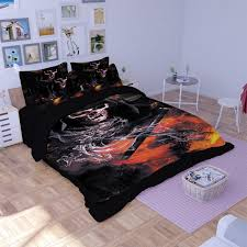 image of skull comforter set home design idea the space available for queen size skull