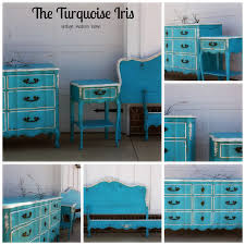 turquoise painted furniture ideas. The Turquoise Iris Vintage Modern Hand Painted Furniture French Bedroom Set. Interior Design Ideas For S