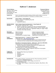 Resume Samples For Graduating College Students New Resume Templates