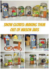 making snow globes from mason jars is an easy diy project that you can do with