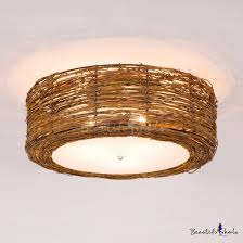 rustic style brown ceiling light