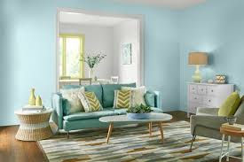 behr s comfortable palette k a blue living room in behr 2017 paint colors