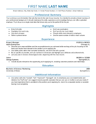 Sample Resume For Experienced