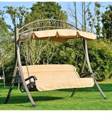 outsunny 3 seater garden metal swing chair hammock bench seat 3 seater garden swing seat