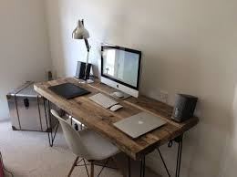 wood desks home office. Regarding Reclaimed Office Desk . Lovable Wood Desks Home