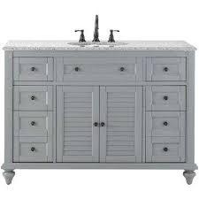 hamilton shutter 49 5 in w x 22 in d bath bath vanity in grey