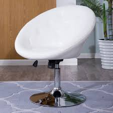 white swivel chair. Contemporary-Round-Tufted-Back-Tilt-Swivel-Chair-with- White Swivel Chair A