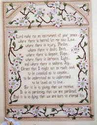 Saint Francis My Chart Sign Up Cross My Heart The Prayer Of St Francis Counted Cross