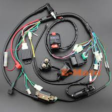 aliexpress com buy full electrics wiring harness coil cdi spark Custom Motorcycle Wiring Harness at Pit Bike Wiring Harness Kits