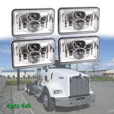 Kenworth T800 Interior Lights Us 146 34 20 Off 4x6 Inch Rectangular Projector Led Headlights Sealed For Peterbilt Kenworth T800 T400 T600 W900b L Trucks In Car Light Assembly