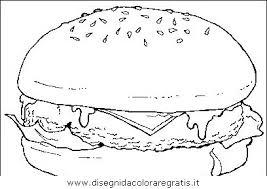 Disegno Hamburger Alimenti Da Colorare