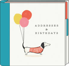 Birthday And Address Book Artfile Sasusage Dog Address Birthday Book Gifts From Handpicked