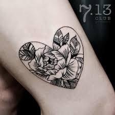 Anna Ivanova Flowers Sketch Tattoo