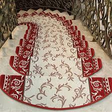 yazi fl stair runner rugs morden european style fl mats non slip stair carpet step