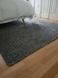 vgc ikea hampen large grey area carpet high pile gy rug 160cm x