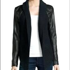 leather sweater jacket john faux coat hooded