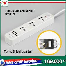 ĐÁNH GIÁ] Ổ cắm điện đa năng 4 cổng USB 3 ổ điện thương hiệu Bagi, giá rẻ  280,000đ! Xem đánh giá ...
