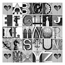 Alphabet Photo Letter Art ABC's in architectural by senterstudios