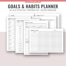 Daily Planner Template 2020 2019 2020 Goal Planner Printable Goal Tracker Goal