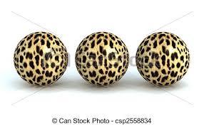 Leopard Decorative Balls Three balls in a leopardskin Three balls with leopardskin 82