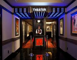 home theater art. connecticut residence takes things a step further by recreating the entire experience of going to movies. home\u0027s art deco-inspired theater features home c