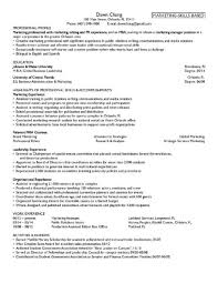 Mba Resumes For Experienced Sample Resume Freshers Finance And Hr