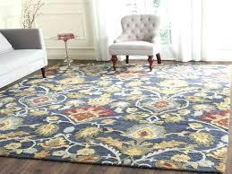 navy blue rug 8x10 handmade blossom navy blue multi wool rug 8 x for navy blue