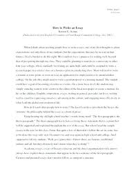 Example Of Essay Report Language And Composition Sample Essays