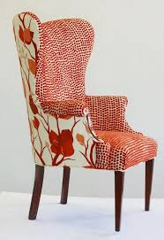 upholstered wingback chair. Brilliant Wingback This Chair Is Awesome In So Many Ways Wingback Orange By Wild  Chairy On Upholstered Chair