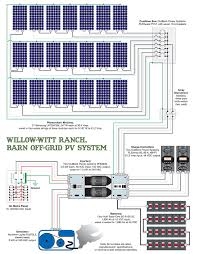willow witt ranch barn off grid pv system schematic