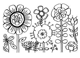 Colouring Pages Flower Garden Free Coloring Flowers Roses For Adults