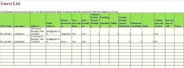 Wedding Guest List Template Excel Download Planning Guest List Template Fresh Wedding Invite Download