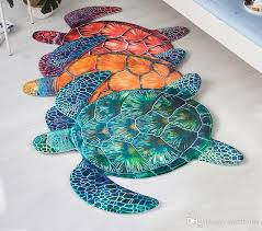 2018 cartoon 3d turtles rug living room sofa carpet computer chair mat non slip children bedroom floor mat industrial carpets carpet installation from