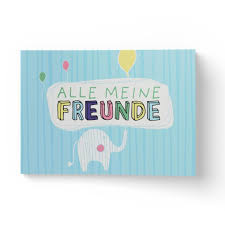 Alle Meine Freunde Hochwertiges Freundebuch Für Mädchen Und Jungen Zum Ausfüllen Und Ausmalen Im Din A5 Format