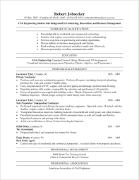 Civil Engineer Sample Resume